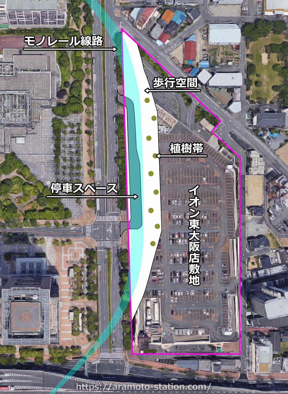 【荒本駅(仮) 大阪モノレール】駅はこのようになる!どのよう感じになるか未来予想図してみよう!